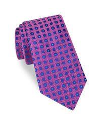 Ted Baker | Purple Eaton Geometric Silk Tie for Men | Lyst