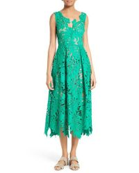 Tracy Reese | Green Leaf Lace Frock | Lyst