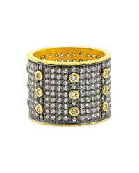 Freida Rothman | Metallic Baroque Blues Cigar Band Ring | Lyst