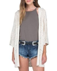Volcom | Multicolor By The Ocean Hooded Cardigan | Lyst