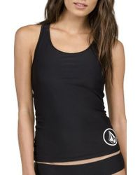 Volcom | Black Simply Solid Tankini Top | Lyst