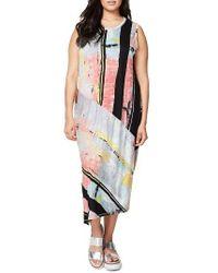 Rachel Roy   Multicolor Print Drape Back Dress   Lyst