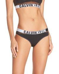 Calvin Klein   Black Fashion Thong   Lyst