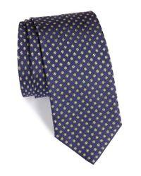 Eton of Sweden   Blue Floral Silk Tie for Men   Lyst