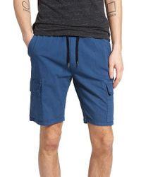 Ezekiel | Blue Cargo Shorts for Men | Lyst