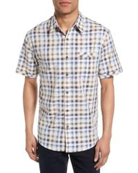 James Campbell | Blue Check Sport Shirt for Men | Lyst