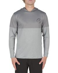Volcom | Gray Hooded Surf Shirt for Men | Lyst