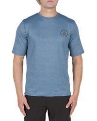 Volcom | Blue Short Sleeve Rashguard for Men | Lyst