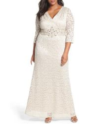 Alex Evenings   Natural Embellished Lace A-line Gown   Lyst