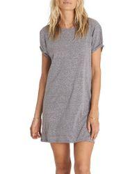 Billabong | Gray Sunset View Lace-up T-shirt Dress | Lyst