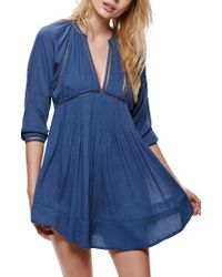 Free People | Blue Go Lightly Swing Dress | Lyst