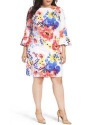 Tahari | Multicolor Floral Print Shift Dress | Lyst