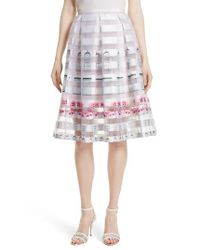 Ted Baker | Pink Niica Midi Skirt | Lyst