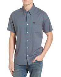 RVCA | Blue Simon Paisley Woven Shirt for Men | Lyst