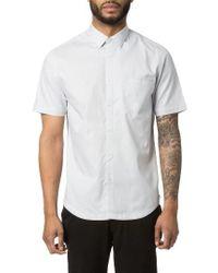 Good Man Brand | Gray Textured Sport Shirt for Men | Lyst