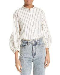 Tibi | White Pinstripe Cotton Shirt | Lyst