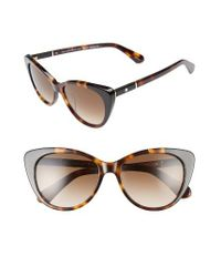 Kate Spade | Sherylyn 54mm Sunglasses - Havana/ Black | Lyst