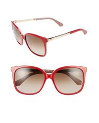 kate spade new york   Red Mackenzee 57mm Sunglasses   Lyst