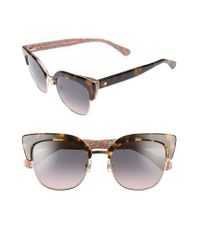 Kate Spade | Karri 53mm Sunglasses - Havana/ Pattern Green | Lyst