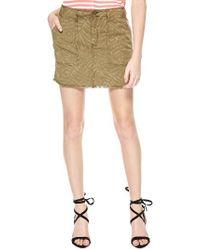 Sanctuary - Green Lily Print Twill Miniskirt - Lyst