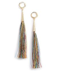 Rebecca Minkoff | Metallic Long Tassel Earrings | Lyst