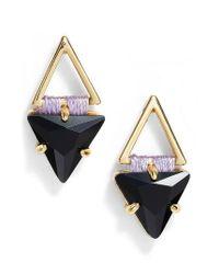 Rebecca Minkoff | Blue Geo Stud Earrings | Lyst
