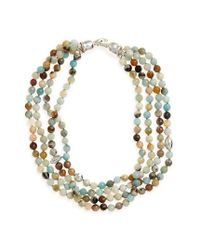Simon Sebbag | Multicolor Semiprecious Stone Bib Necklace | Lyst