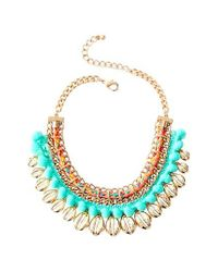 Lilly Pulitzer - Multicolor Lilly Pulitzer Sparkling Sands Frontal Necklace - Lyst