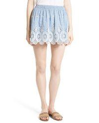 Joie - Multicolor Wanita Eyelet Embroidered Miniskirt - Lyst