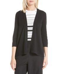 Kate Spade | Black Open Cotton & Cashmere Cardigan | Lyst