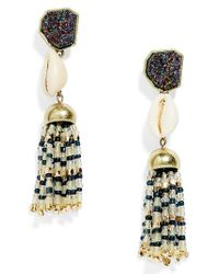 BaubleBar | Blue Conch Tassel Drop Earrings | Lyst