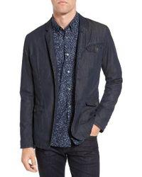 John Varvatos   Blue Extra Trim Fit Four-button Convertible Jacket for Men   Lyst