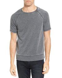 John Varvatos | Gray Short Sleeve French Terry Sweatshirt for Men | Lyst