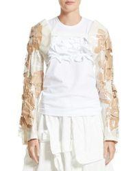 Comme des Garçons | Natural Pvc & Paper Bolero Jacket | Lyst