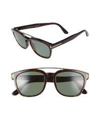 Tom Ford | Holt 54mm Polarized Sunglasses - Dark Havana/ Green | Lyst