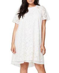 Rachel Roy | Natural A-line Lace Dress | Lyst