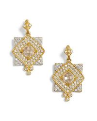 Freida Rothman | Metallic Visionary Fusion Pave Drop Earrings | Lyst