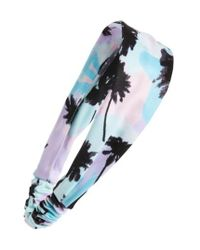 Berry | Blue Tropical Palm Head Wrap | Lyst