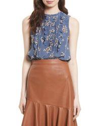 Rebecca Taylor | Blue Silk Sleeveless Top | Lyst