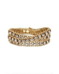 Loren Hope - Metallic Glenn Crystal Wrap Bracelet - Lyst