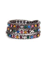 Loren Hope | Metallic Glenn Crystal Wrap Bracelet | Lyst