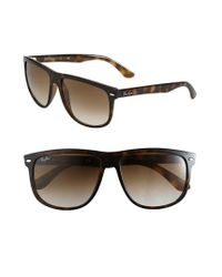 Ray-Ban | Brown 'boyfriend Flat Top Frame' 60mm Sunglasses | Lyst