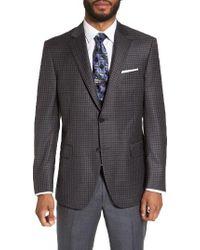 Peter Millar | Gray Flynn Classic Fit Plaid Wool Sport Coat for Men | Lyst