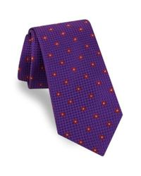 Ted Baker - Purple Medallion Silk Tie for Men - Lyst