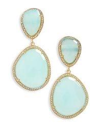 Susan Hanover - Blue Semiprecious Stone Drop Earrings - Lyst