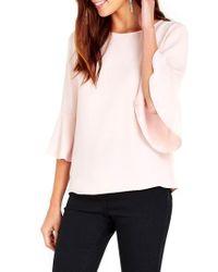 Wallis | Pink Lantern Sleeve Top | Lyst