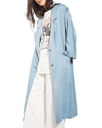 TOPSHOP | Blue Duster Coat | Lyst