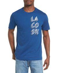 Lacoste - Blue 3d Print Logo Graphic T-shirt for Men - Lyst