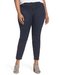 Eileen Fisher | Blue Organic Cotton Blend Skinny Jeans | Lyst