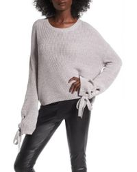Love By Design - Gray Grommet Sleeve Pullover - Lyst